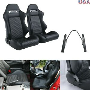 2pcs Universal Pu Leather Racing Seats track Not Included