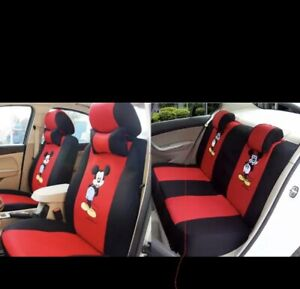 Car Seat Covers Full Set Universal Mickey Mouse Red