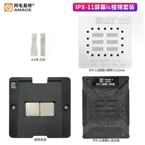Amaoe Bga Stencil For Iphone X 11 Screen Touch Ic Magnetic Reballing Kit Platfor