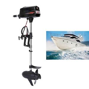Hangkai 7hp Outboard Motor Brushless Electric Fishing Boat Engine Tiller Control