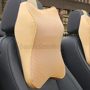 Memory Foam Car Seat Pillow Neck Head Rest Headrest Support Cushion Pad Travel