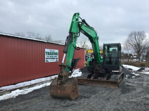 2014 Bobcat E85 Hydraulic Midi Excavator W Cab Thumb Clean Only 2600 Hours