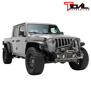 Tidal Stinger Front Stubby Bumper W Winch Plate Fit For 20 21 Jeep Gladiator Jt