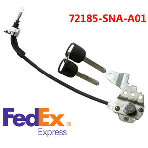 Car Front Left Driver Door Lock Cylinder Cable For Honda Civic 72185 Sna A01 Us