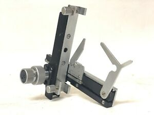 Stage Clips Micrometer Leitz Germany Hm lux Microscope Part 3 b 23