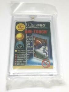 1 Ultra pro One touch Magnetic 75pt Uv Protected Card Holders As Picture In