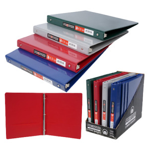 3 Ring Binder Gray Navy Red Green Holds Up To 100 Sheets Two Inside Pockets