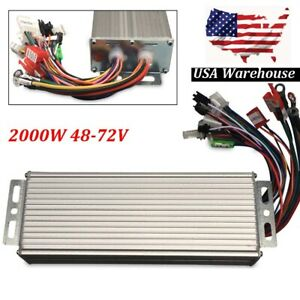 2000w 48 72v Dc Electric Motor Speed Controller Bicycle E bike Scooter Brushless