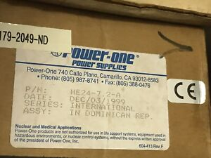 Power One He24 7 2 a 24v Power Supply