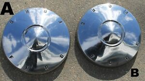 Set Of 2 Oem Ford Dog Dish Poverty Hubcaps 10 1 2 1960 1961 1962