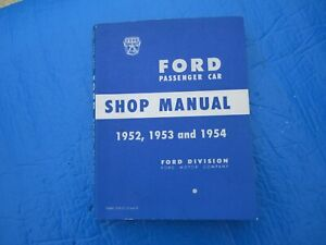 Vintage Auto Shop Manual Maintenance Original 1952 1953 1954 Ford 1960 Edsel