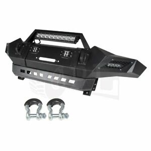 For 2005 2015 Toyota Tacoma Front Bumper Black Textured Steel Pickup Truck