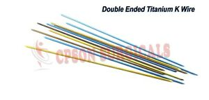 Orthopedic Double Ended Titanium K Wire Lot Of 50pcs Surgical Instrument