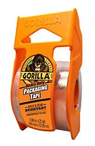 Gorilla Heavy Duty Packing Tape With Dispenser 1 88 X 25 Yd Clear