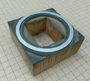 circle W Cut out For Letterpress Printer Block Kelsey Printing Press