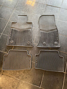Cadillac Ats Oem Rubber Floor Mats Black 2013 19 Preowned Set 4 Pcs