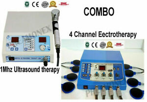 Ultrasound Ultrasonic Therapy 1 Mhz Machine Electrotherapy 4channel Combo Unit