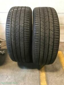 2x P255 55r19 Continental Crosscontact Lx Sport Ao 6 32 Used Tires