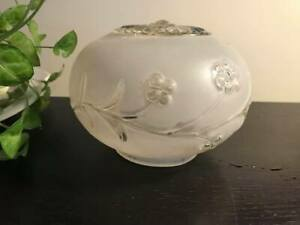 Vintage Frosted Glass Ceiling Light Fixture Shade Globe Lamp Art Deco 6x4