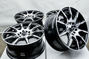 15 Black Wheels Rims Honda Accord Civic Prelude Toyota Corolla Prius Scion Tc