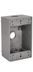 Bell Gray Single gang Aluminum Weatherproof Outdoor Outlet Box 5320 0 518662