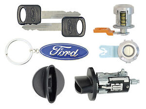 2006 Ford F250 F350 Superduty Ignition Cylinder 2 Door Locks W 2 Ford Keys
