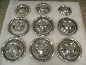 1962 1963 Corvair 13 Wire Hubcaps set Of 6