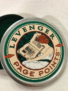 Levenger 42 Bronze Page Points Storage Tin Usa Made Bookmarks