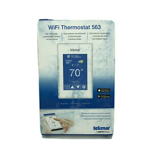 Tekmar 563 Wifi Thermostat 2 Stage Heat 2 Stage Cool White New Fast Shp A018