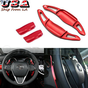 For 2018 Toyota Camry Pair Steering Wheel Extension Shift Paddle Shifter Red