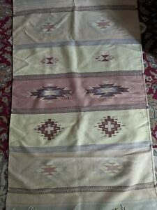 Native Old Antique Wool Blanket American Weaving Rug Large Size 61 5 X 38