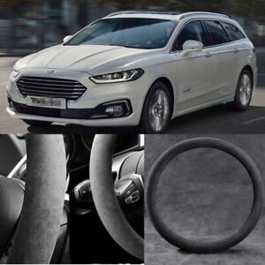 For Ford Mondeo Black Alcantara Suede Car Steering Wheel Cover Accessories