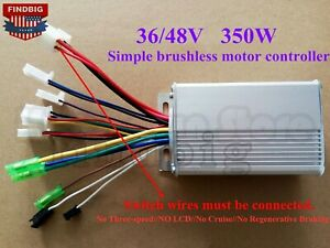 Us New 36v 48v 350w Electric Bicycle Scooter Brushless Dc Motor Controller