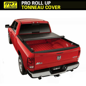 Roll Up Lock Soft Tonneau Cover Fit 2002 2018 Dodge Ram 2500 3500 8ft Long Bed