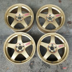 17 Rays S201 Wheels 22b Rs Zero 5x100 Sti Forged For Sf5 Subaru Impreza Gc8 Gf8