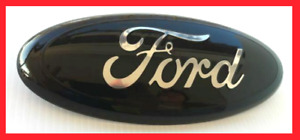1 Black Chrome 2005 2014 Ford F150 Front Grille Tailgate 9 Inch Oval Emblem
