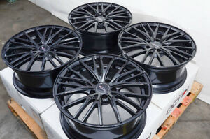 18 Wheels Rims Black Mercedes S500 E320 Gl320 Vw Jetta Golf Gti Audi A4 5x112