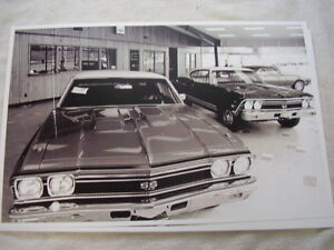 1968 Chevrolet Chevelle In Dealer Showroom 11 X 17 Photo Picture