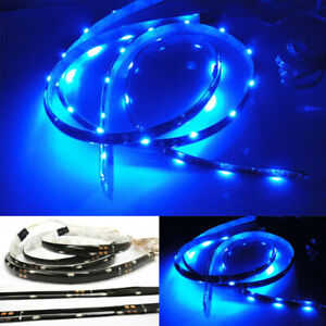 2x Blue 20 Smd Led Strip Universal For Bmw Side Shine Signal Fog Interior Light