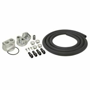 Derale 15725 Engine Oil Filter Relocation Kit W 22x1 5mm Engine Thread Size New