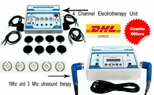 Ultrasound Therapy 1 3 mhz Ultrasound And 4ch Electrotherapy Pain Injury Combo