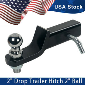 Ball mount 2 Drop Trailer Hitch 2 Ball Fits 2 Receiver Hitch Pin Tow