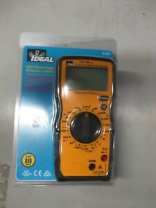 Ideal 61 327 600v Manual Range Digital Multimeter W ncvt New