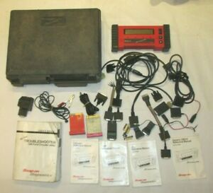Snap on Model Mt2500 Scanner W cartridges Cables Adapters Manuals And Keys Lqqk