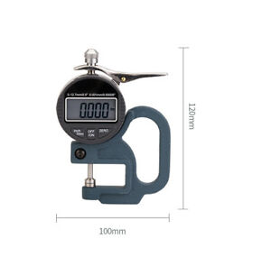 Digital Micrometer Thickness Gauge For Paper Film Cloth Tape Accuracy 0 001mm