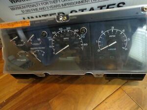 1995 1996 1997 Ford F250 F350 Gas Instrument Cluster Unknown Mileage