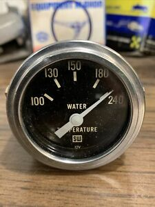 Stewart Warner Vintage 2 1 16 12v Electric Water Temperature Gauge Vintage 60s