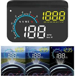 Car Hud Display Acecar Upgrade Head Up Display Dual Mode Obd2 Gps Digital Clock