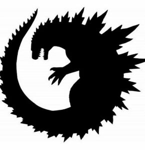 Vinyl Decal Car Sticker Kaiju Monster Round Godzilla Pick Size And Color