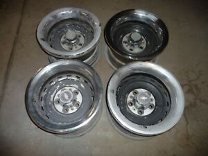 Set Of 4 Oem Chevrolet Gmc Truck 15x8 Rally Wheels With Center Caps And Rings